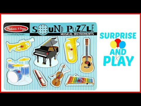 Learn Musical Instruments Names and Sounds with Melissa and Doug Sound Puzzles