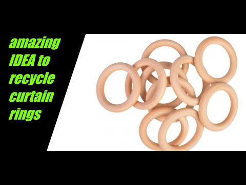/reuse old curtain rings/best out of waste/diy craft/zaha diy