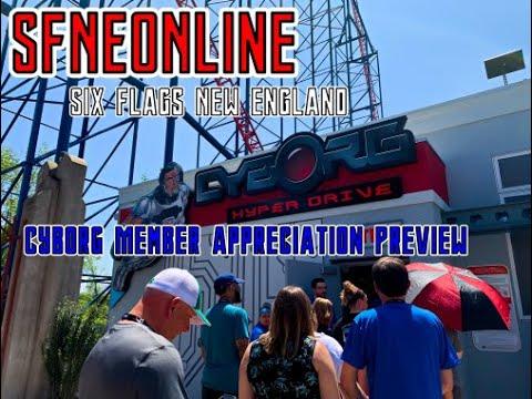 Six Flags New England Cyborg Membership Preview