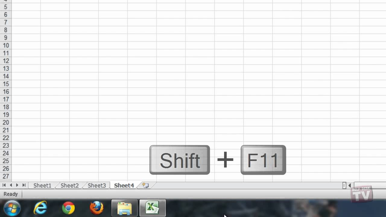 Adding Or Renaming A Worksheet In Excel 2010 Youtube