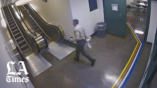 Watch a retired L.A. County detective leave contraband in an inmate chapel