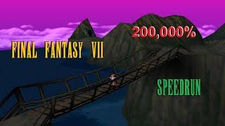 Final Fantasy VII 100% in 46 minutes - 200,000% speedrun