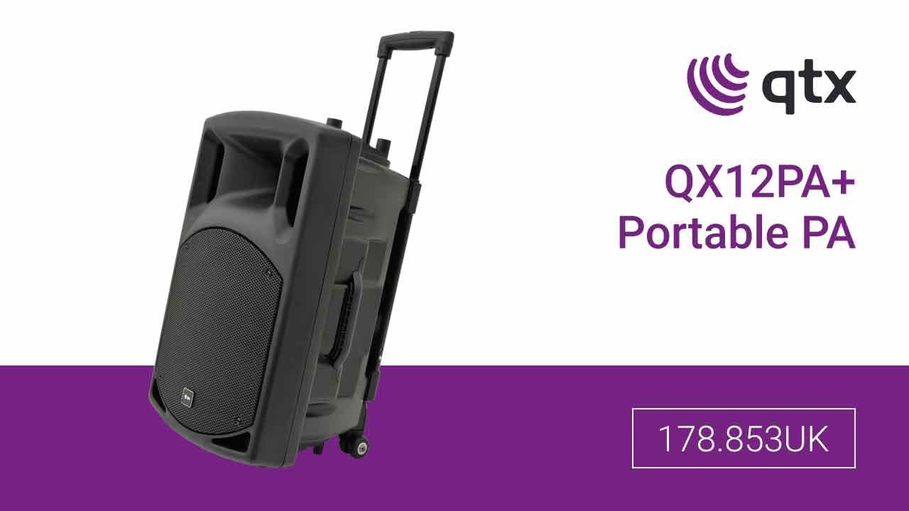 9b3927c75 178.853UK - QX12PA+15 Portable PA with USB SD FM   Bluetooth® - YouTube
