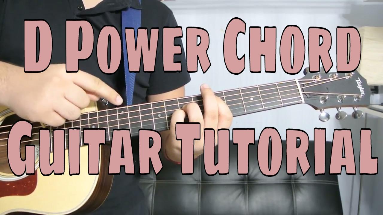 How to Play a D Power Chord Chord Guitar Tutorial