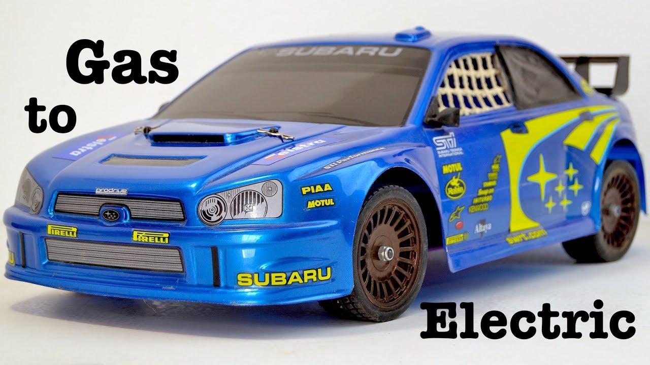 How I Convert an rc SUBARU Gas Rally car into Electric. - YouTube