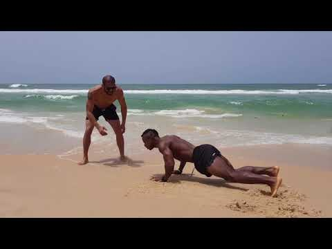 Beach Workout with Yass HD Diallo and Khris Modeste in Senegal