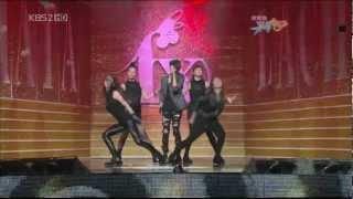 [HD] 090911 f(x) 出道舞台 - Intro+LA chA TA