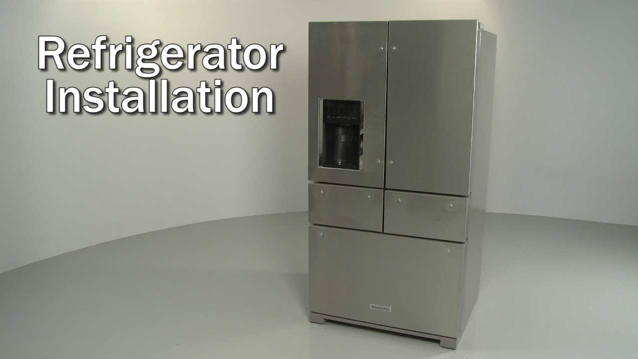 Kitchenaid Refrigerator Installation Model Krmf706ess01 Youtube