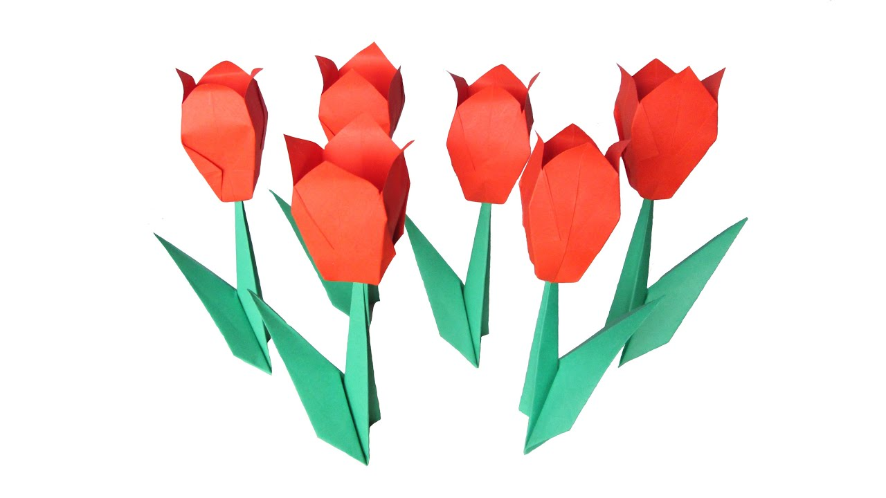 origami flower tulip youtube origami flower tulip jeuxipadfo Image collections