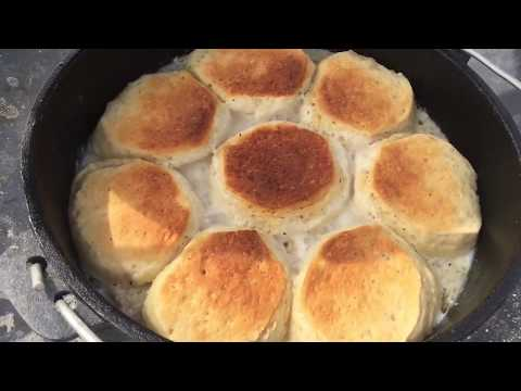 Biscuits And Gravy In The Dutch Oven