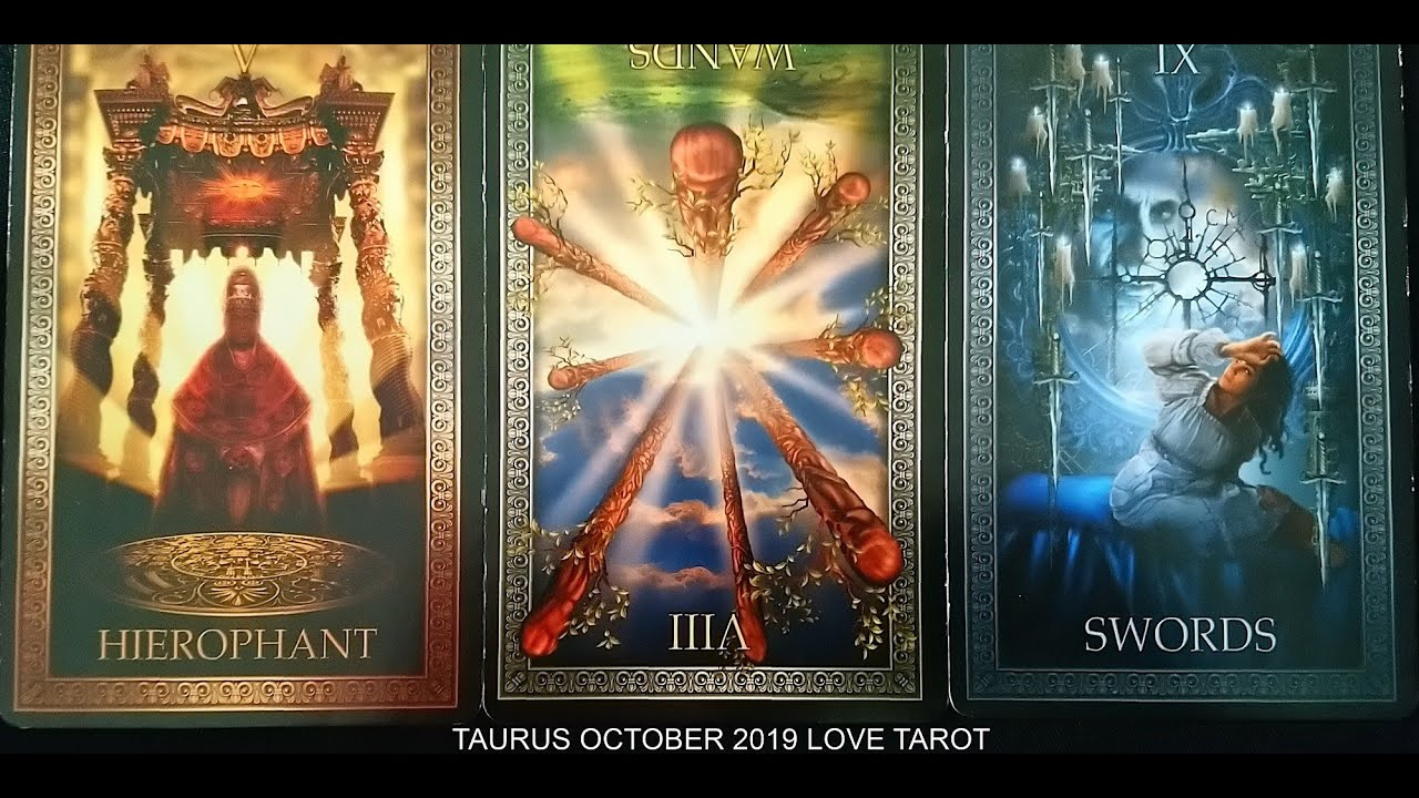 october taurus 2019 tarot