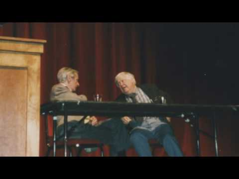"""William Gass introduces William Gaddis at """"The Writer and Religion"""" conference"""