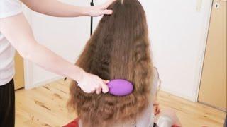 ASMR Brushing Long Hair
