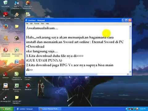 Cara Download & Install Game Sword Art Online Eternal Sword PC mpeg4