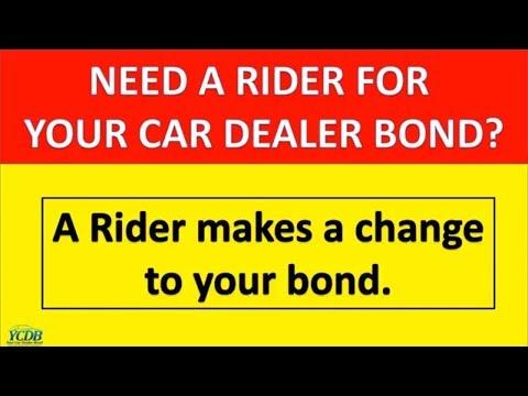 YCDB Dealer Bond Rider