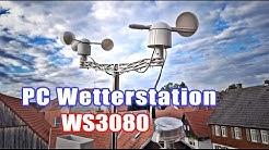 PC Solar Wetterstation WS3080 mit Software Cumulus, EasyWeather Plus