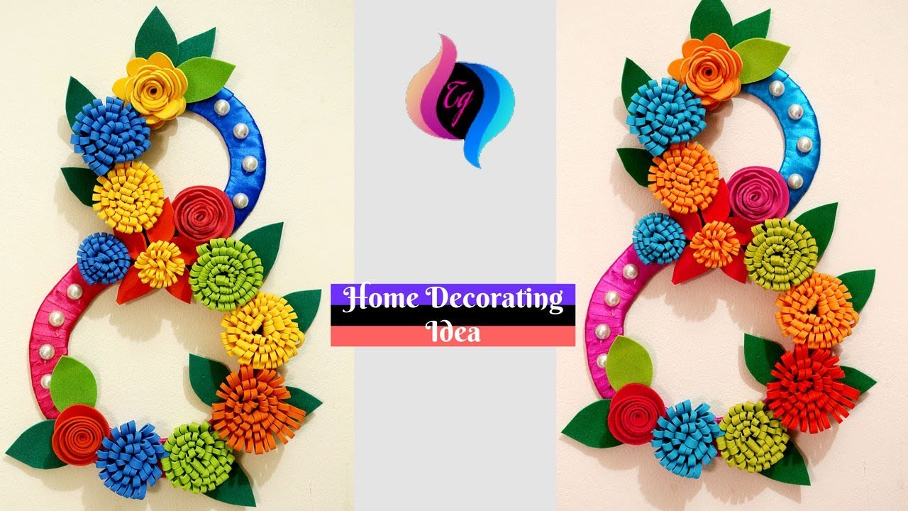 DIY - Wall decor idea with paper and cardboard - Make Paper wall ...