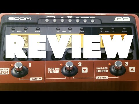 ZOOM B3 Bass Effects unit REVIEW