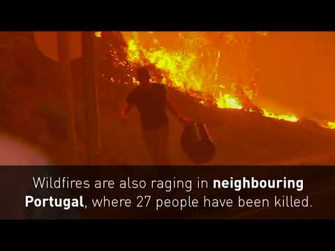 Wildfires Kill 30 People In Spain And Portugal