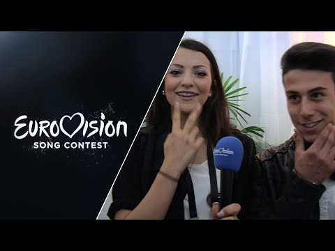 Backstage: Michele Perniola and Anita Simoncini (San Marino)