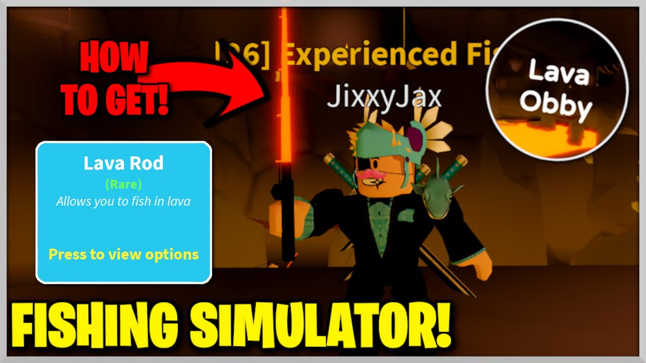 How To Get Lava Rod Lava Obby Badge In Fishing Simulator