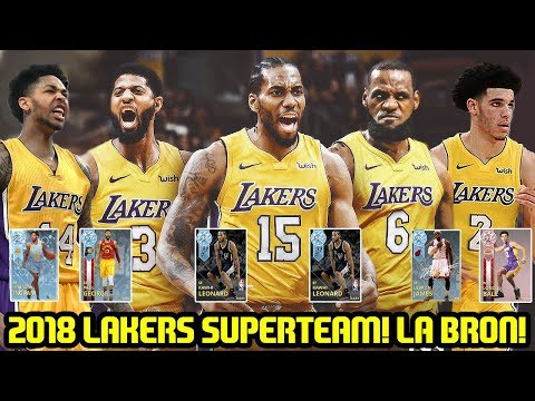 LEBRON TO LAKERS! 2019 SUPERTEAM! KAWHI, PAUL GEORGE TEAM UP! NBA 2K18 MYTEAM SUPERMAX