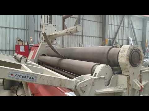 Akyapak AHS 3000 Mm / 16 Mm Plate Rolling Machine - 4 Rolls