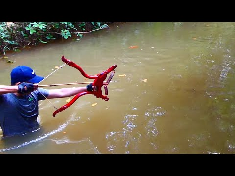 Building Amazing Simple Style PVC Power Springs Bowfishing For Shooting Huge Fish  -Make n Use