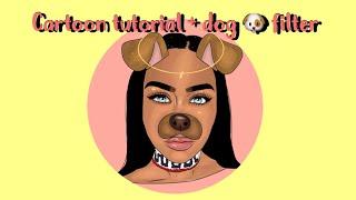 CARTOON Tutorial +HALO +DOG FILTER ( *MUST WATCH * ) ON ADOBE DRAW