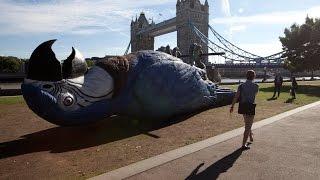 Monty Python 15m Dead Parrot hung in London