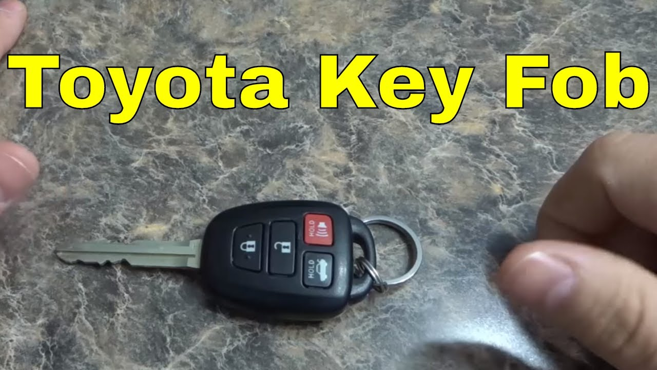 How To Replace A Toyota Key Fob Battery