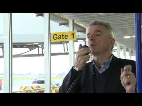 Michael O'Leary surprises 13 millionth Ryanair passenger at Shannon Airport
