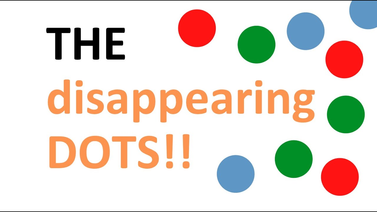 optical illusions the disappearing dots 1 youtube
