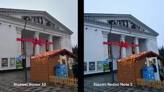 Сравнение смартфонов Huawei Honor 10 vs Xiaomi Redmi Note 5, примеры фото.