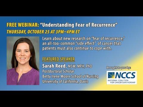 NCCS Webinar: Understanding Fear of Cancer Recurrence