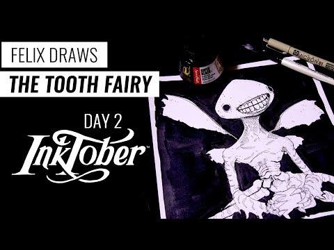 Inktober 2017 - Day 2: Tooth Fairy (Hellboy)