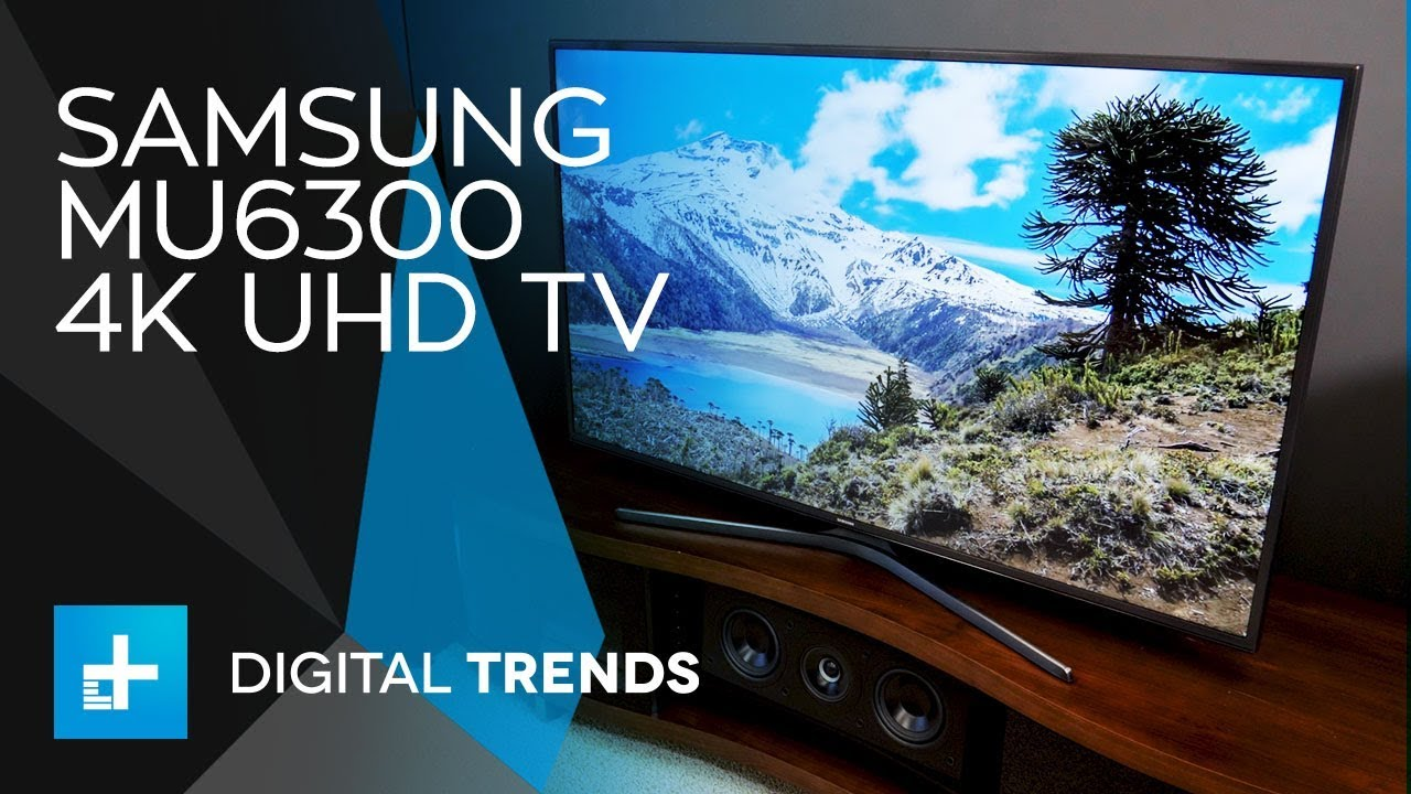 samsung mu6300 4k uhd tv hands on review youtube