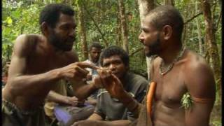 Warm reception by a remote tribe - First Contact - BBC