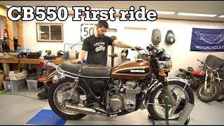 Honda CB550 first ride in years. thumbnail