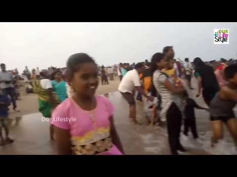 Marina Beach Water Play at Chennai Evening Time Fun Collecti