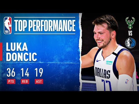 [Highlight] Luka Doncic highlights vs. Bucks (36 PTS | 14 REB | 19 AST)