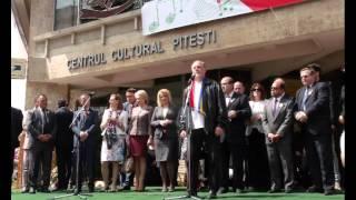 Generalul Chelaru  tinand un discurs la Simfonia Lalelelor , editia 38,Pitesti