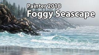 Foggy Seascape - Corel Painter 2018 Landscape Course (TRAILER)