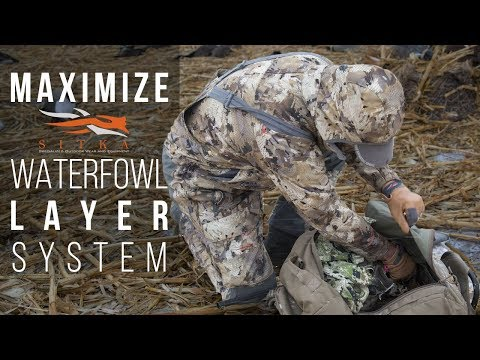 Sitka's Waterfowl Hunting System - Early To Late Season Camo Gear