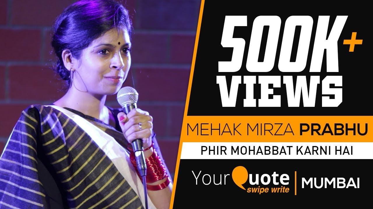 A Naturally Gifted Storyteller : Mehak Mirza Prabhu