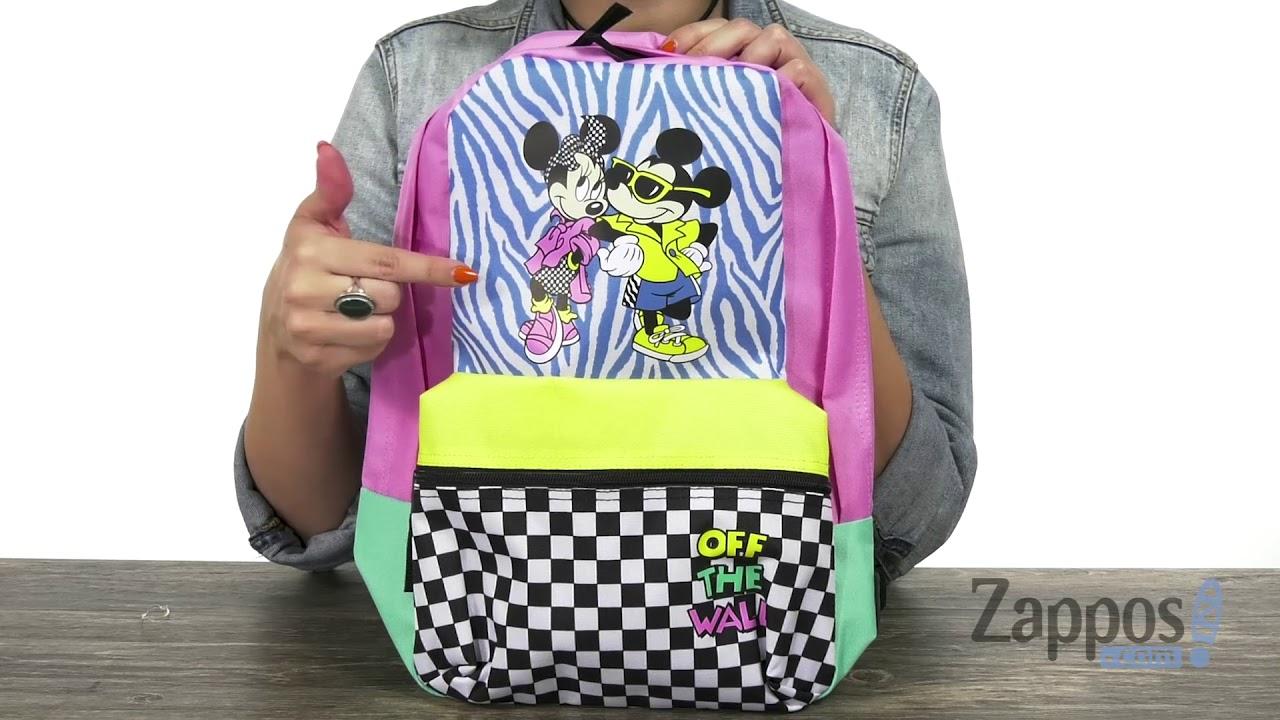 ffd7b585048f Vans Mickey s 90th Hyper Minnie Calico Backpack SKU  9188279 - YouTube