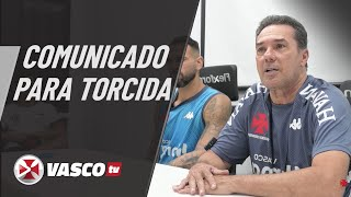 Recado do Luxemburgo para torcida