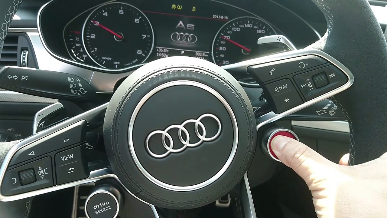 Audi A6 C7pa Retrofits R8 Steering Wheel Engine Start And Drivr