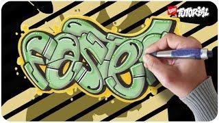 Faster - Block Style Graffiti Tutorial - Schritt für Schritt