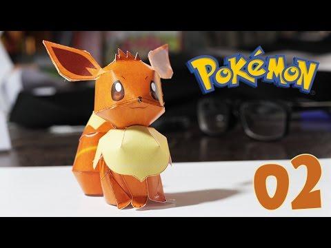 Pokemon - How to papercraft Pokémon Eevee # 02 design by Yoshiny Yo